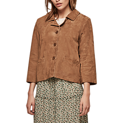 Gerard Darel Alana Leather Jacket, Camel