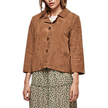 Buy Gerard Darel Alana Leather Jacket, Camel Online at johnlewis.com