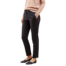Buy Jigsaw Weave Jacquard Trousers, Dark Navy Online at johnlewis.com