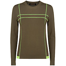 Buy Jaeger Textured Block Jumper, Khaki Online at johnlewis.com