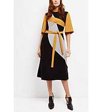 Buy Jaeger Fit & Flare Panel Dress, Multi Online at johnlewis.com