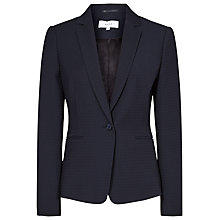 Buy Reiss Isabella Textured Single Breasted Blazer, Navy Online at johnlewis.com
