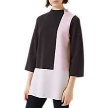 Buy Jigsaw Colour Block Tunic Dress, Navy Online at johnlewis.com