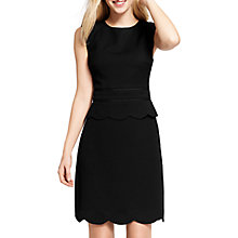 Buy Oasis Scallop Peplum Dress, Black Online at johnlewis.com
