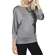 Buy Mint Velvet Feather Batwing Top, Grey Online at johnlewis.com