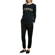 Buy French Connection Toyen London Sweatshirt, Utility Blue Online at johnlewis.com