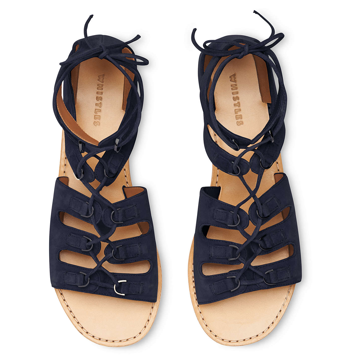 BuyWhistles Elba D Ring Sandals, Navy, 3 Online at johnlewis.com