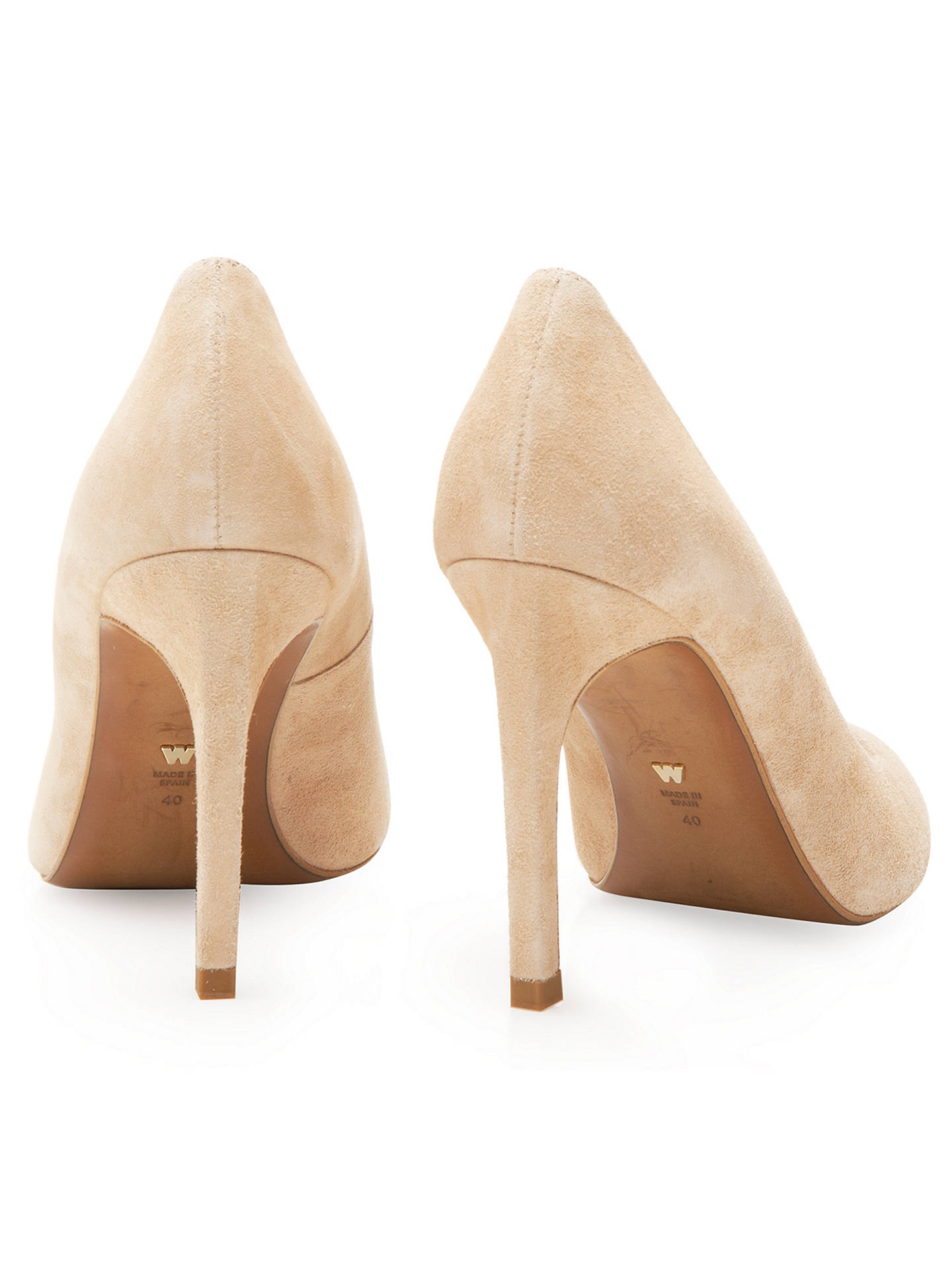 55357fe2d4c29 Buy Whistles Cornel Stiletto Heeled Court Shoes, Nude Suede, 4 Online at  johnlewis.