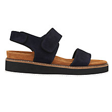 Buy Whistles Keller Rip Tape Sandals, Navy Online at johnlewis.com