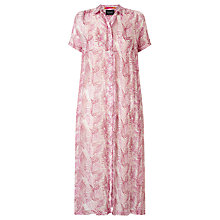 Buy Maison Scotch Sheer Shirt Dress, Pink Online at johnlewis.com