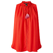Buy Maison Scotch Ruffled Tasselled Top, Chilli Red Online at johnlewis.com
