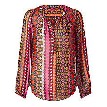 Buy Maison Scotch Printed Blouse, Multi Online at johnlewis.com