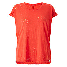 Buy Maison Scotch Ausbrenner T-Shirt, Chilli Red Online at johnlewis.com