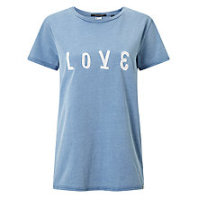 Buy Maison Scotch Love T-Shirt, Cadillac Blue Online at johnlewis.com