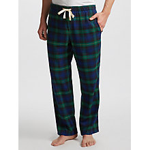 Buy John Lewis Black Watch Brushed Cotton Lounge Pants, Navy/Green Online at johnlewis.com