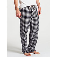 Buy John Lewis Boxwell Gingham Check Brushed Cotton Lounge Pants, Grey Online at johnlewis.com