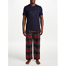 Buy John Lewis Holly and Tartan Pyjama Gift Set, Blue/Multi Online at johnlewis.com