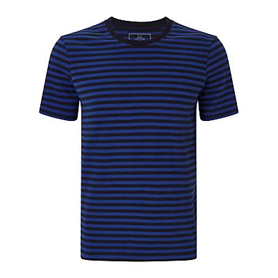 John Lewis Jersey Cotton Stripe Lounge T-Shirt, Blue