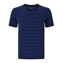 Buy John Lewis Jersey Cotton Stripe Lounge T-Shirt, Blue Online at johnlewis.com