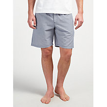 Buy John Lewis Stripe Cotton Lounge Shorts, Grey Online at johnlewis.com