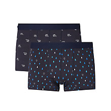 Buy John Lewis Tree And Polar Bear Trunks, Pack of 2, Navy Online at johnlewis.com
