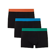 Buy John Lewis Colour Waistband Trunks, Pack of 3 Online at johnlewis.com