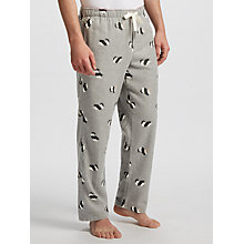 Buy John Lewis Panda Brushed Lounge Pants, Grey Online at johnlewis.com