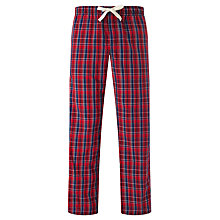 Buy John Lewis Bisley Poplin Check Lounge Pants, Red/Multi Online at johnlewis.com