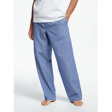 Buy John Lewis Poplin Stripe Lounge Pants, Blue Online at johnlewis.com