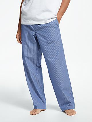 John Lewis & Partners Poplin Stripe Lounge Pants, Blue