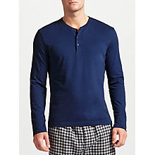 Buy John Lewis Long Sleeve Henley T-Shirt, Navy Online at johnlewis.com