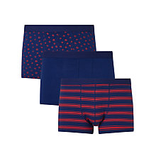 Buy John Lewis Marigold Trunks, Pack of 3, Blue Online at johnlewis.com