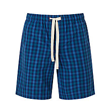 Buy John Lewis Gingham Check Lounge Shorts, Blue Online at johnlewis.com