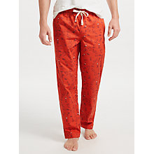 Buy John Lewis Winter Hares Print Lounge Pants, Rust Online at johnlewis.com