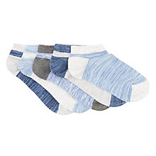 Buy John Lewis Children's Trainer Socks, Pack of 5, Blue/Grey Online at johnlewis.com