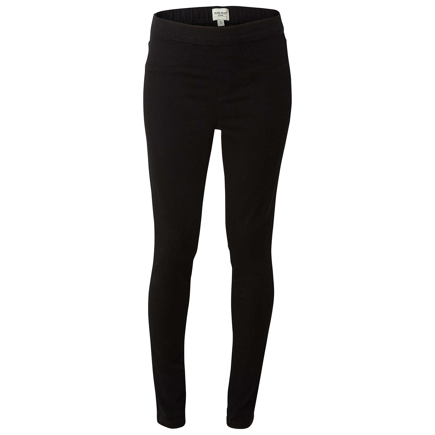 BuyWhite Stuff Jegging Jeans, Black, 6S Online at johnlewis.com