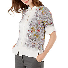 Buy White Stuff Ditsy Bird Shirt, White/Multi Online at johnlewis.com
