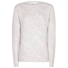 Buy Reiss Wesley Jacquard Jumper, Chiffon Online at johnlewis.com