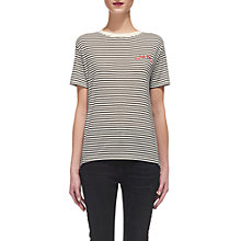 Buy Whistles Tres Bon Embroidered T-Shirt, Multi Online at johnlewis.com