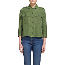Buy Whistles Utility Jacket, Khaki Online at johnlewis.com