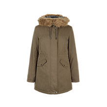 Buy Hobbs Heath Parka Coat, Khaki Online at johnlewis.com