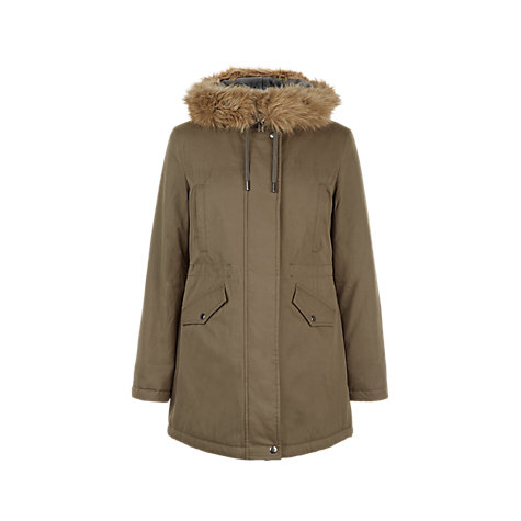 Buy Hobbs Heath Parka Coat, Khaki | John Lewis