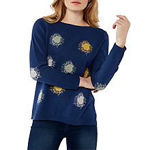 Buy White Stuff Rhyme Spot Jumper, Ink Pot Blue Online at johnlewis.com