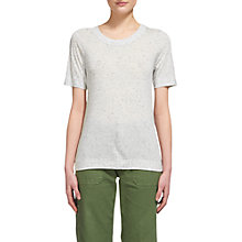 Buy Whistles Rosa Double Trim T-Shirt, Grey Marl Online at johnlewis.com
