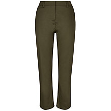 Buy Jaeger Kick Flare Trousers, Khaki Online at johnlewis.com