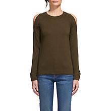 Buy Whistles Open Weave Shoulder Knit, Khaki Online at johnlewis.com
