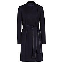 Buy Reiss Lucille Belted Long Wool Coat, Navy Online at johnlewis.com