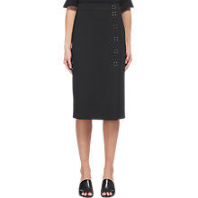 Buy Whistles Popper Pencil Skirt, Black Online at johnlewis.com