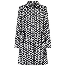 Buy Four Seasons Flower Print Coat, Navy Online at johnlewis.com