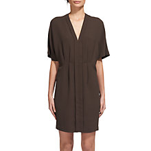 Buy Whistles Polly V-Neck Dress, Khaki Online at johnlewis.com